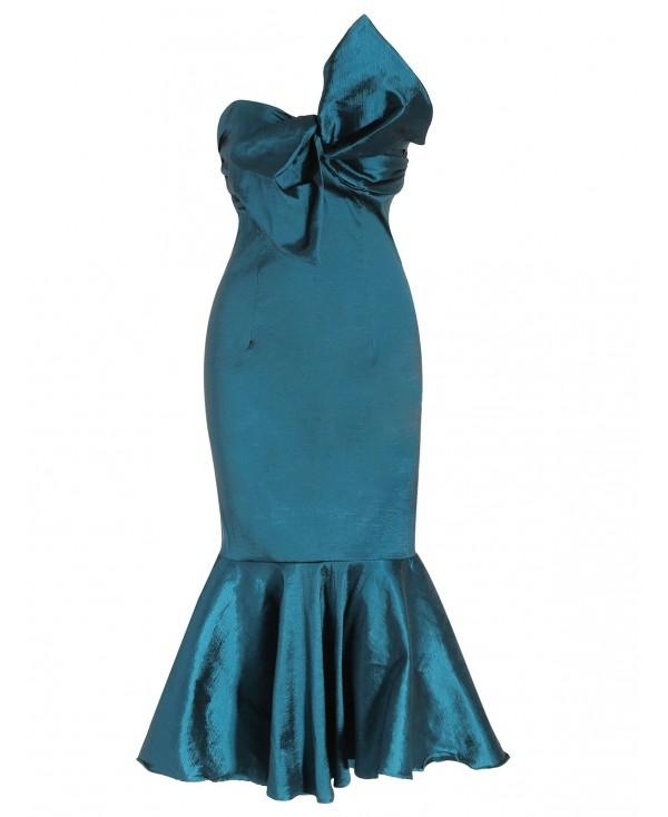 Bowknot Embellished Mermaid Formal Dress