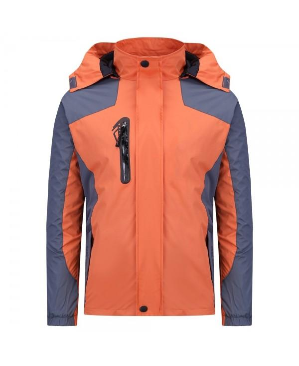 Hooded Long Sleeve Pocket Zipper Hoodie Windbreaker Men Outdoor Jacket
