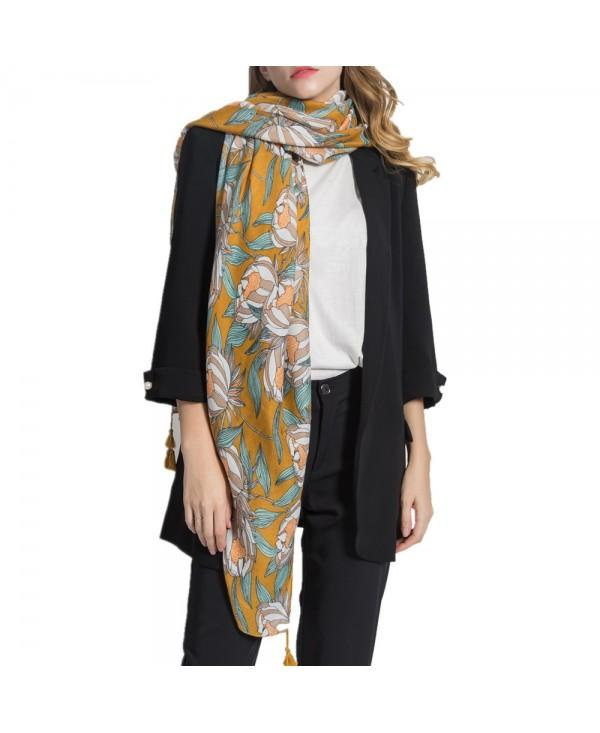 Women Long Muffler Cotton Linen Shawls Scarf
