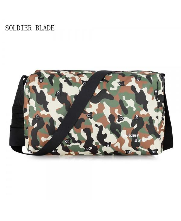 SOLDIERBLADE Camouflage Large Capacity Travel Crossbody Bag for Men