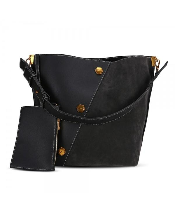 Unique Splice Versatile Ladies Matte Bucket Women Shoulder Bag
