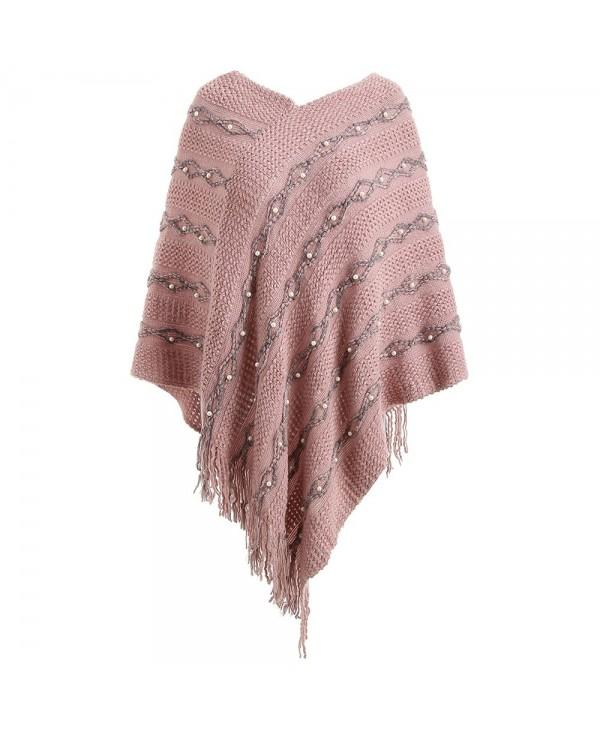 Faux Pearl Detail Cape Sweater