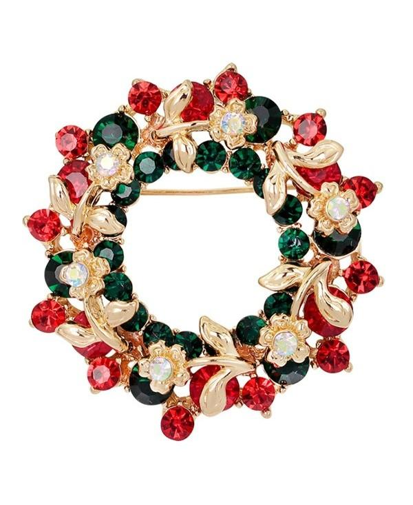 Flower Wreath Brooch