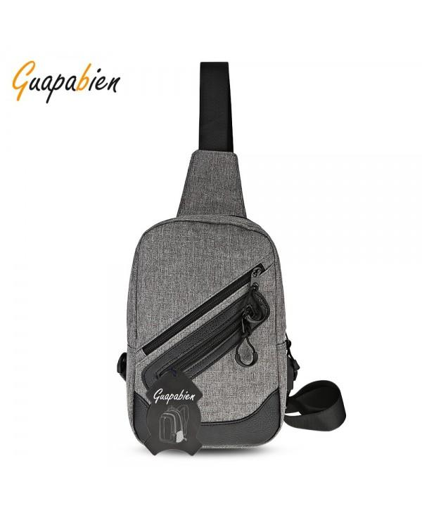 Guapabien Stylish USB Port Traveling Men Chest Shoulder Bag