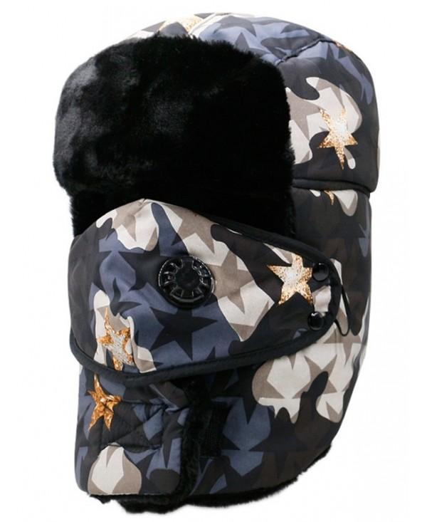 Camo Printed Waterproof Thicken Trapper Hat