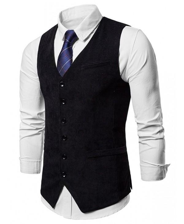 Faux Pockets Single Breasted Suit Vest
