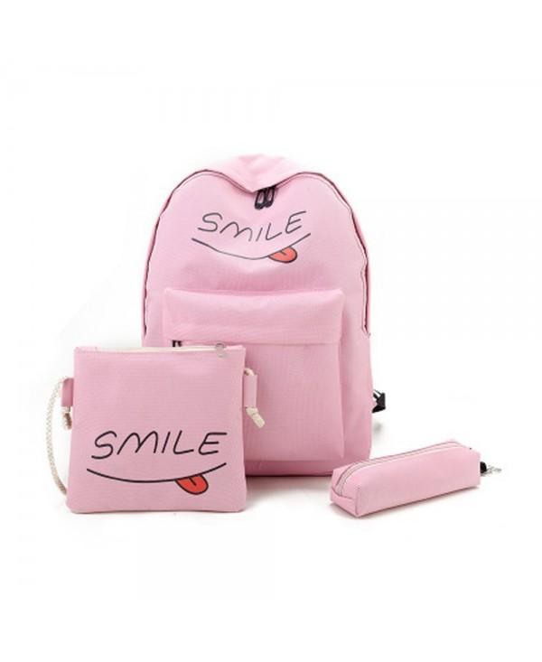 Girls Backpack Set 3 Pcs Letter Cartoon Girls Bags