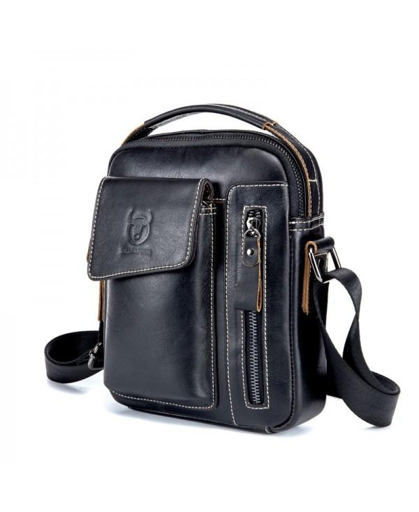 Genuine Leather Men Messenger Casual Crossbody Male Handbag Shoulder Bag