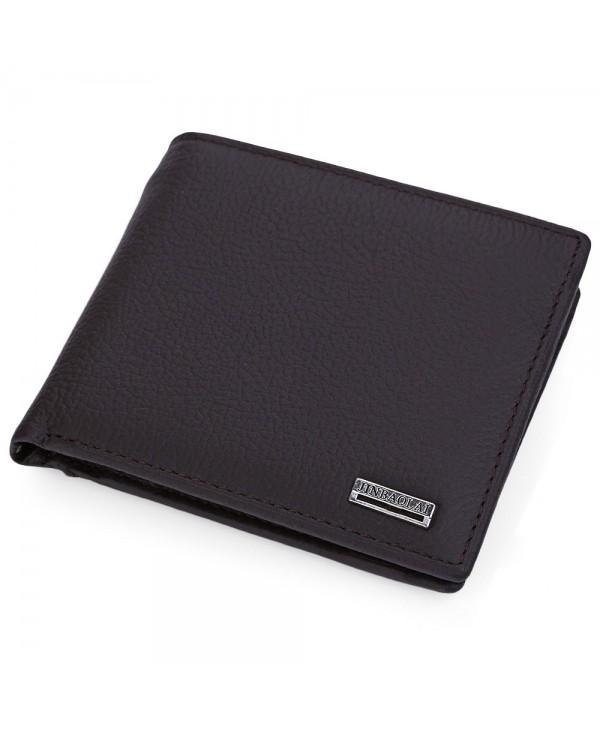 Letter Embellishment Solid Color Open Horizontal Wallet for Men