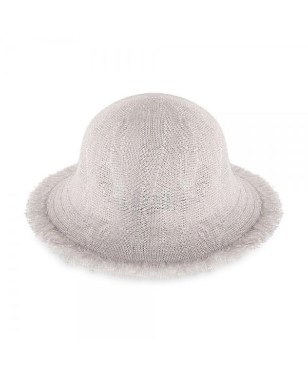 Women Solid Color Fringed Fisherman Hat Casual Bucket Cap