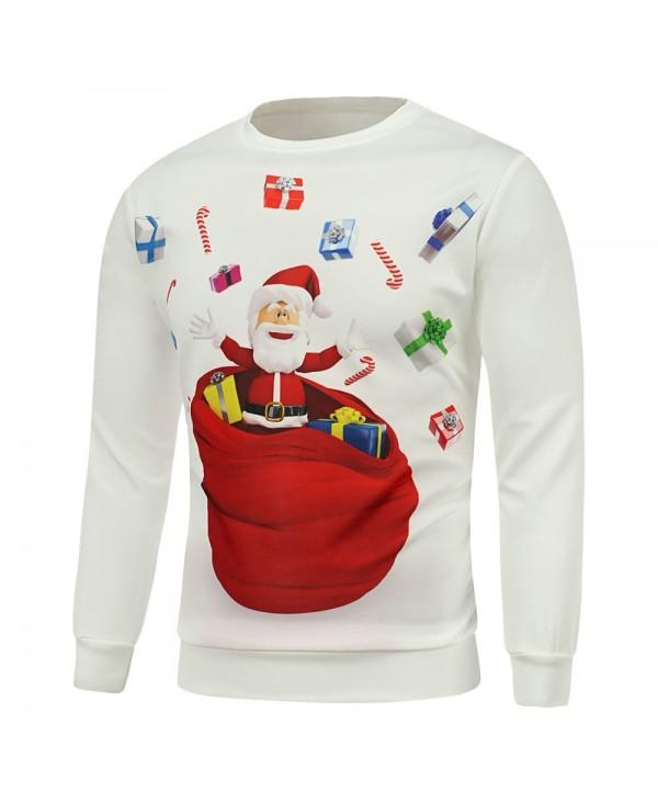 Christmas Santa Gift Printing Long Sleeve Sweatshirt
