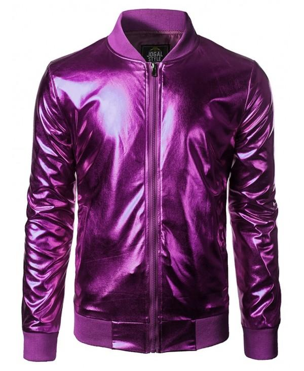 Night Club Style Shiny Bomber Jacket