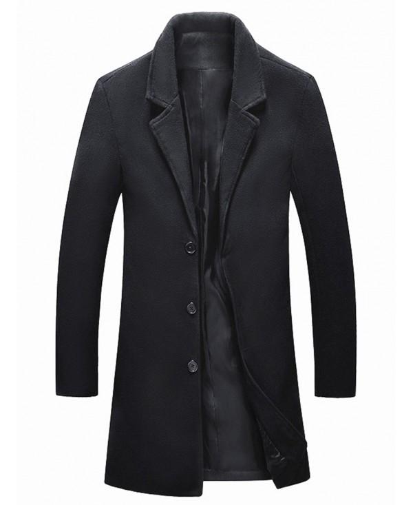 Longline Single Breasted Wool Blend Coat