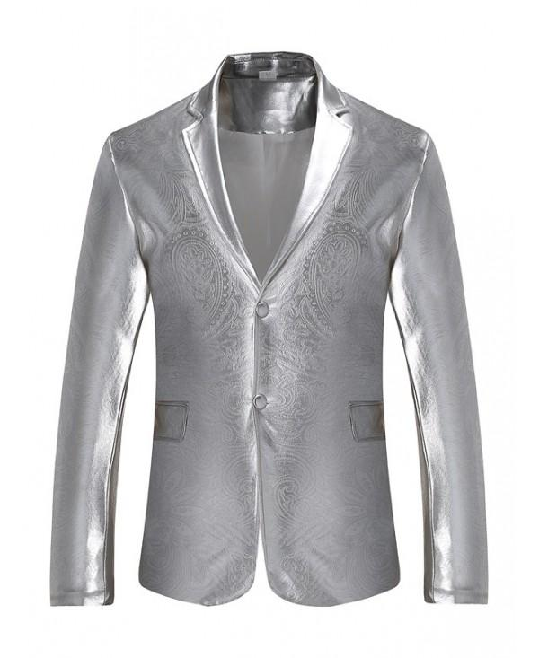 Male Stylish Printing Blazer Jacket