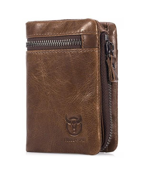 BULLCAPTAIN Trendy Leather Bifold Wallet for Men