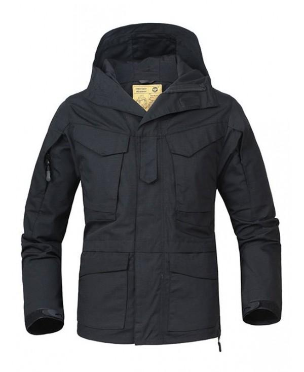 Zipper Multi-pocket Hooded Jacket
