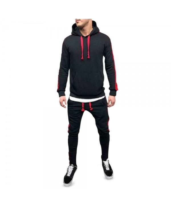 Color Spliced Hoodie and Pants