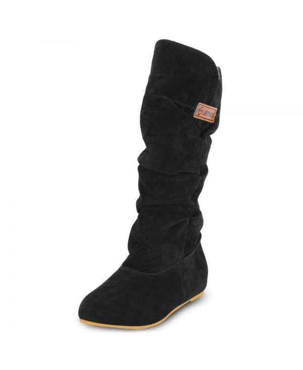 Female Winter Casual Increased Within Suede Upper Mid-calf Boots