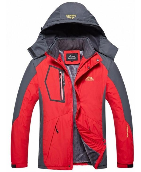 Men Outdoor Windproof Warm Hiking Clothing Coat