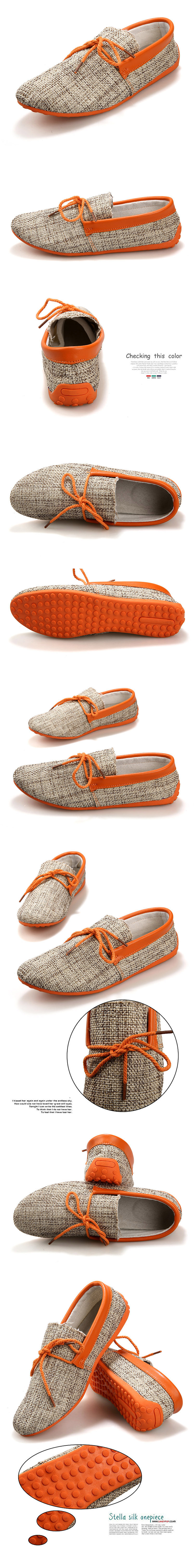 Canvas Breathable Slip On Loafers Casual Men Solid Cotton Driving Shoes