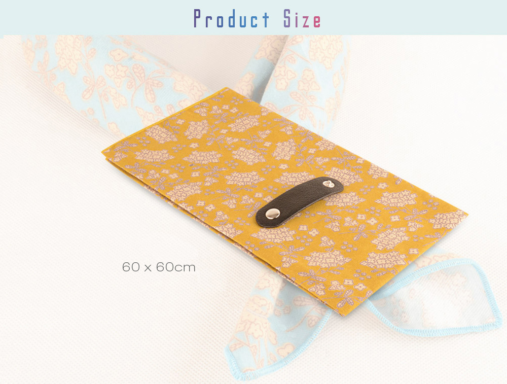 Multifunctional Flower Printed Cutton Square Kerchief for Women