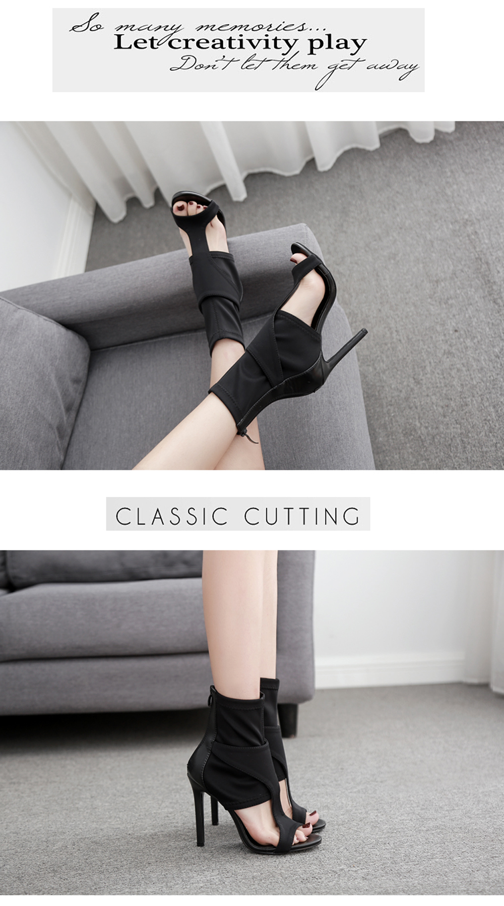 Women's Stiletto Open Toe Shoes London Party Sandals