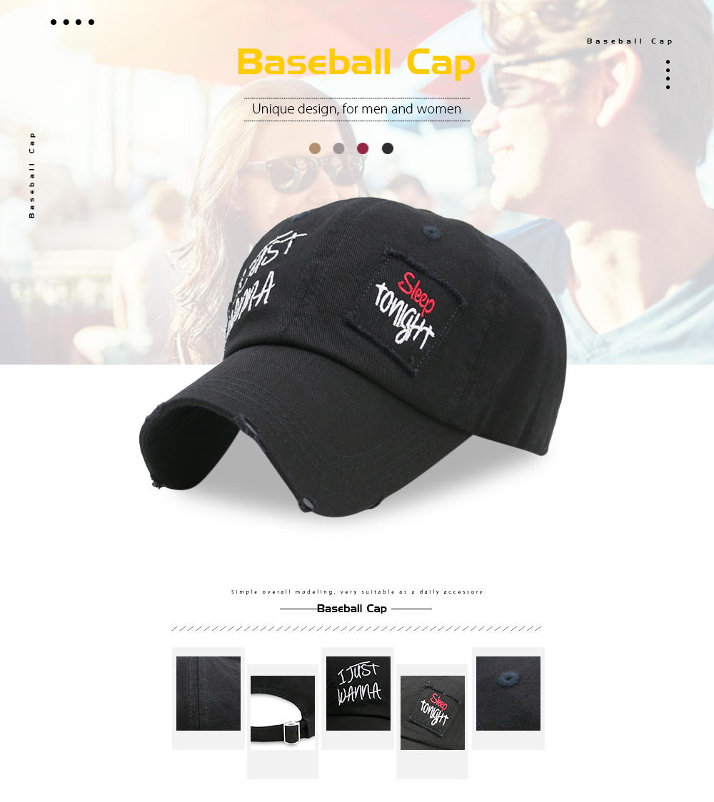Baseball Cap for Men / Women Cool Sporting Hat with Adjustable Back Closure