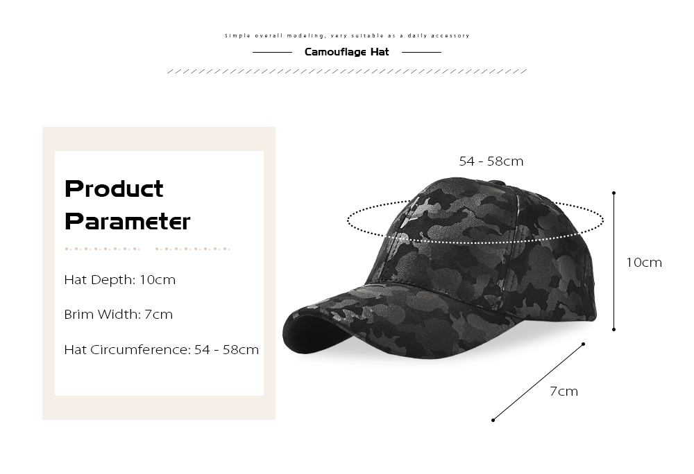 Baseball Cap 6 Panel Hip Hop Men Women Suede Camouflage Adjustable Hat
