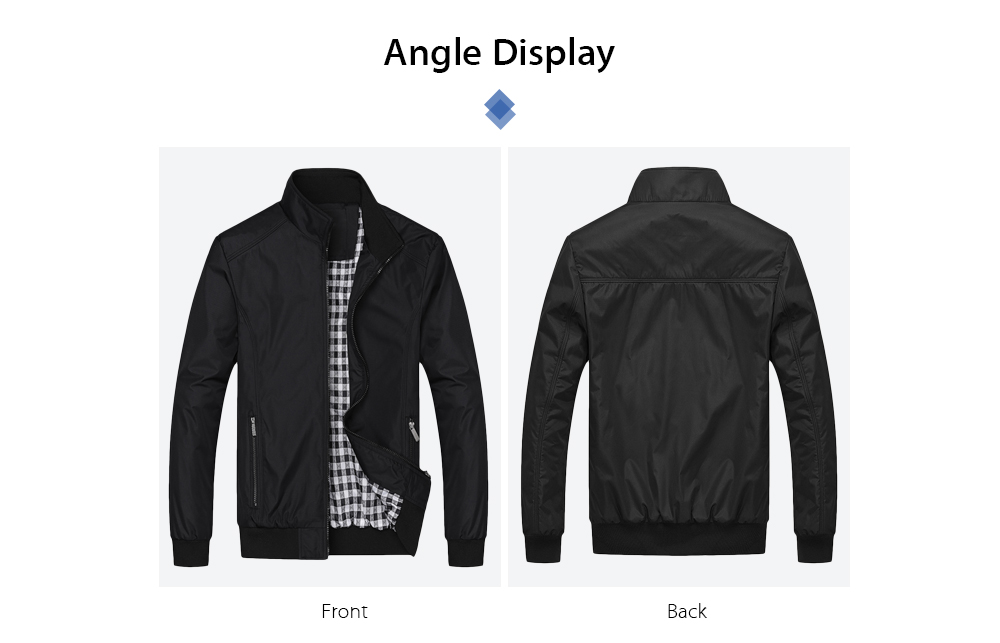 Men Casual Outdoor Windproof Sportswear Lightweight Jacket