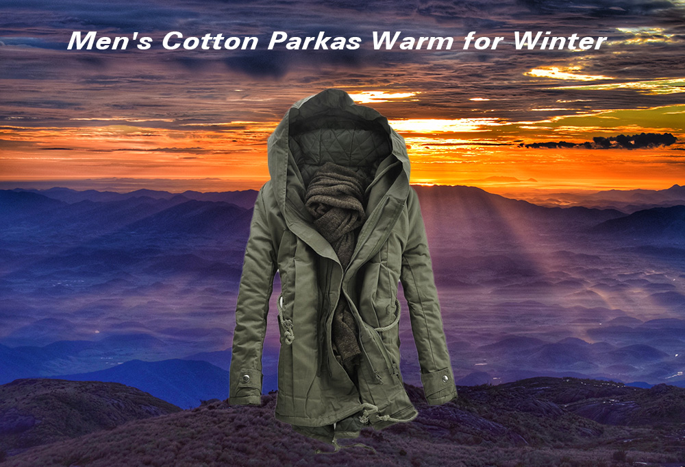 Men's Parkas Winter Cotton Warm