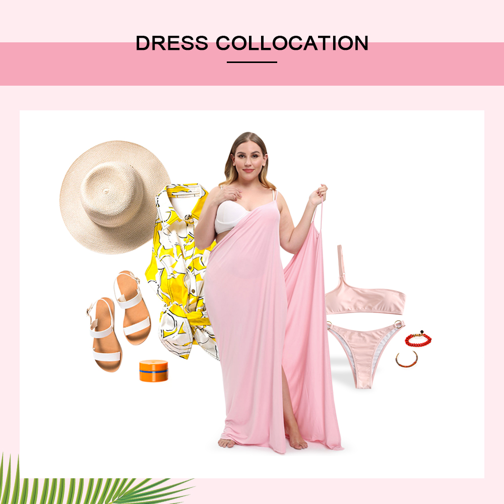 Plus Size Criss Cross Slip Cover Up Dress