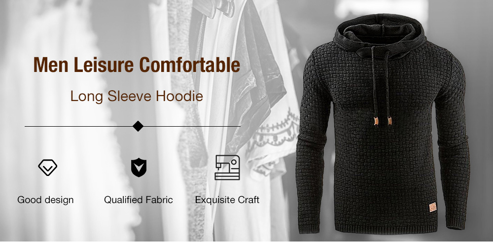 Leisure Hoodie Long Sleeve Casual Fleece for Men